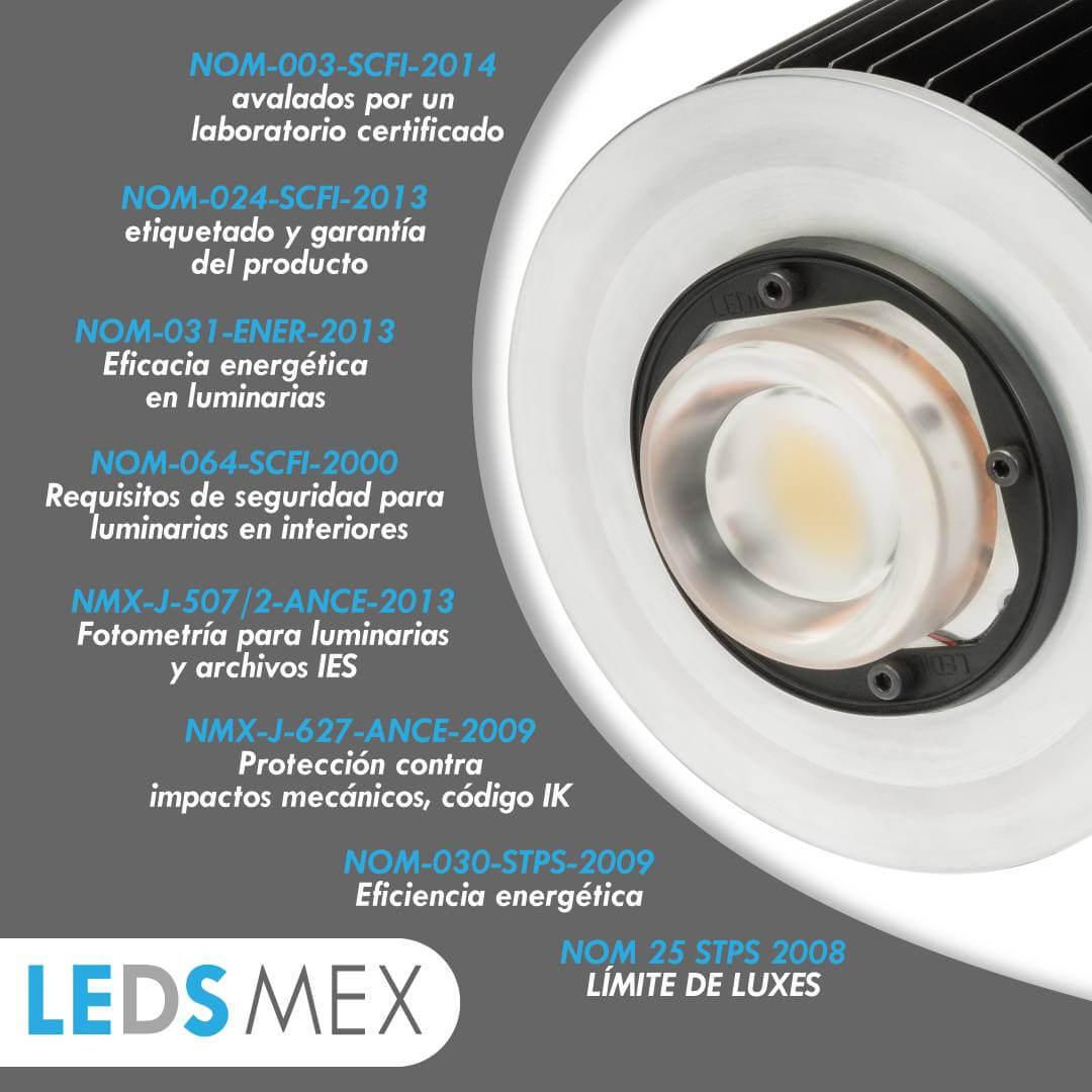 ¿Con qué normas mexicanas debe contar una lámpara industrial?